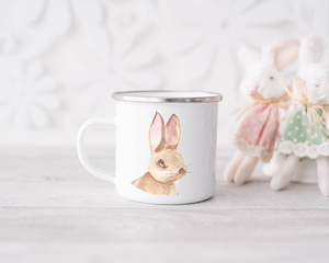 Enamel Mug - Watercolour Bunny