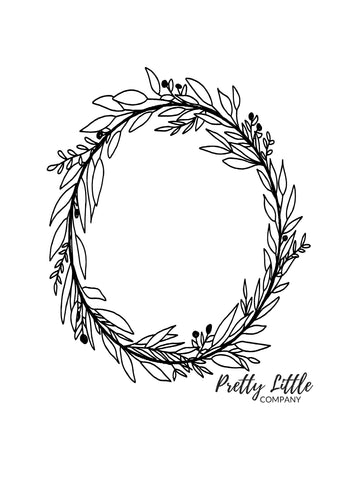 Wreath Colouring Page - Free Download