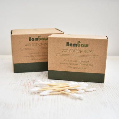 Bambaw Organic Cotton & Bamboo Cotton buds