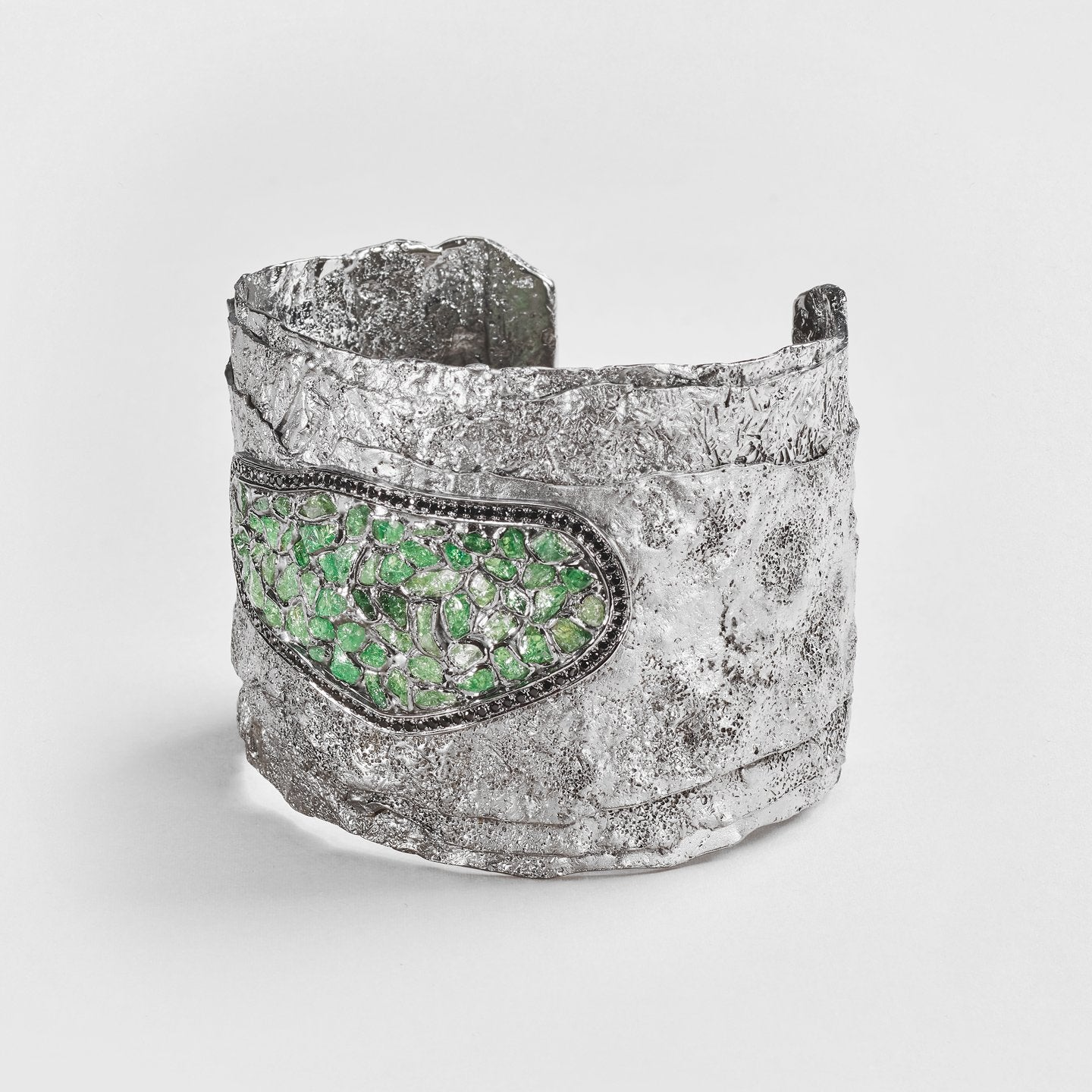 Arral Tsavorite and Spinel Bangle