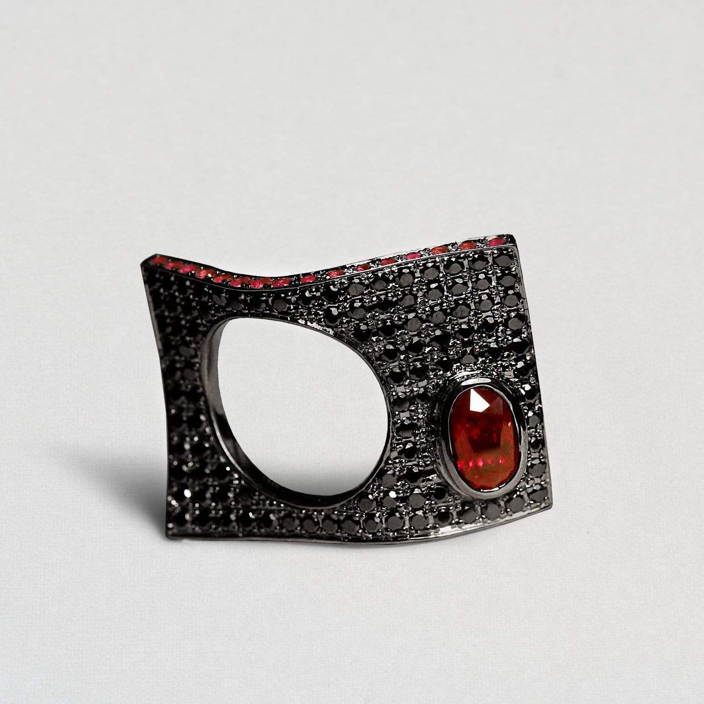 Morgaine Ring, Exclusive, gray, Rhodium, Ruby, spo-disabled, StoneColor:Red, Style:Statement Ring