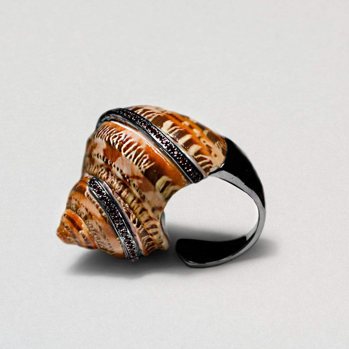 Cora Ring, Exclusive, Garnet, gray, Rhodium, spo-disabled, StoneColor:Orange, Style:Fantasy Ring