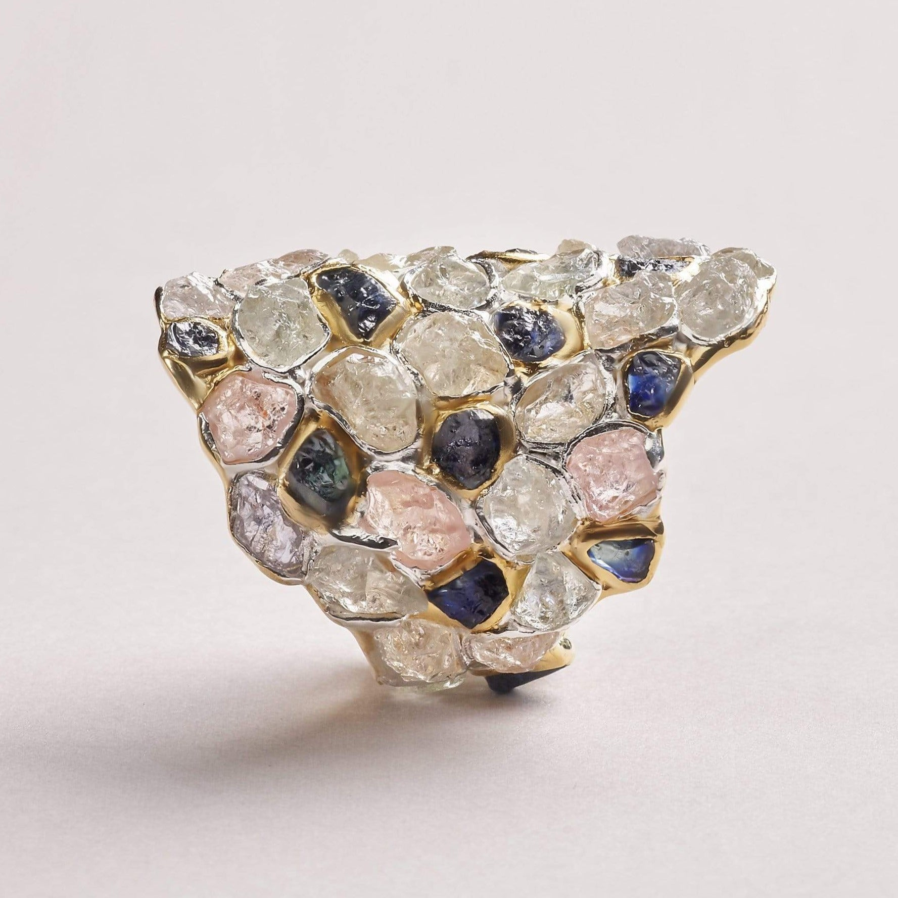 Amavera White and Blue Sapphire Ring