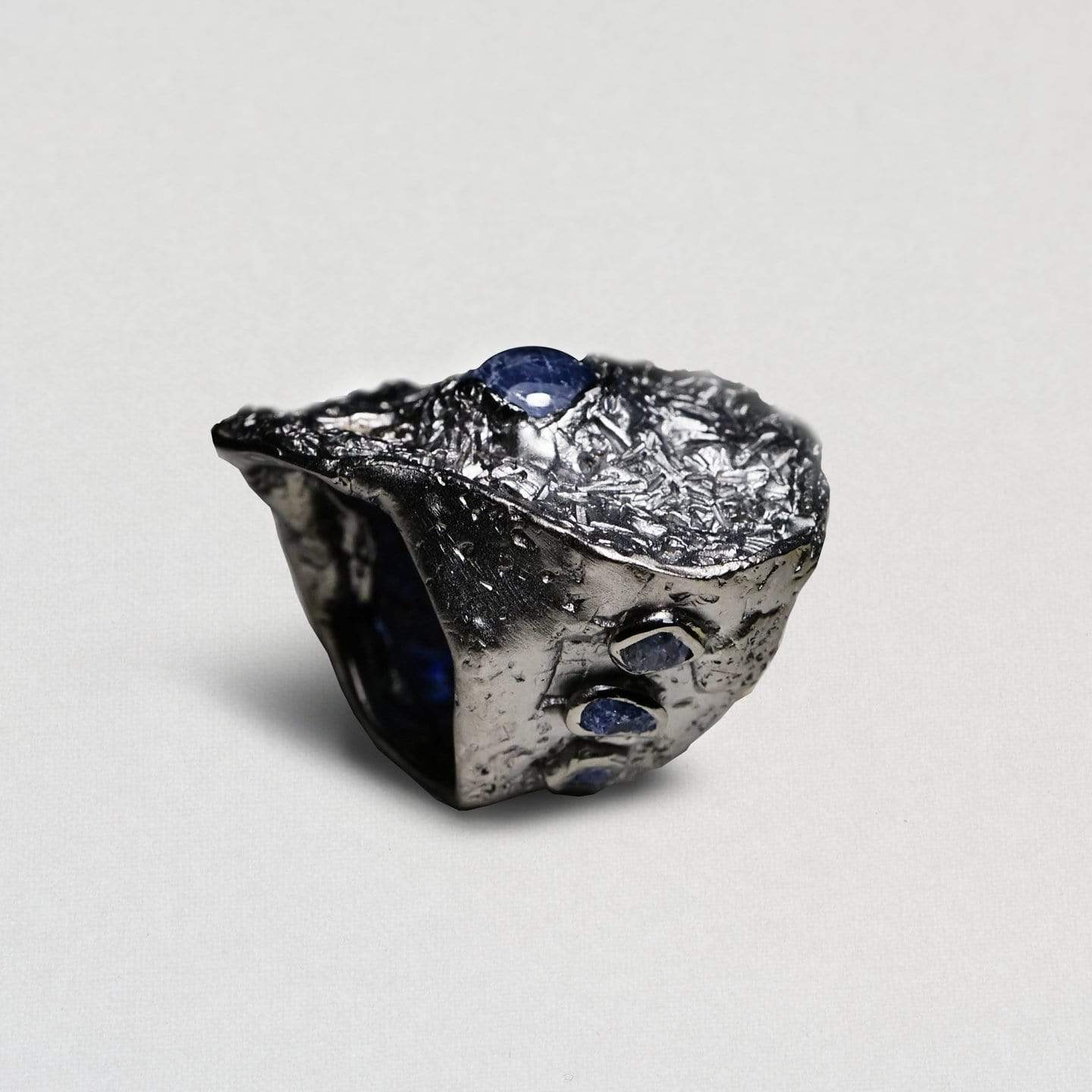 Titania Ring, Exclusive, gray, Rhodium, Sapphire, spo-disabled, StoneColor:DeepBlue, Style:Statement, Titania Ring
