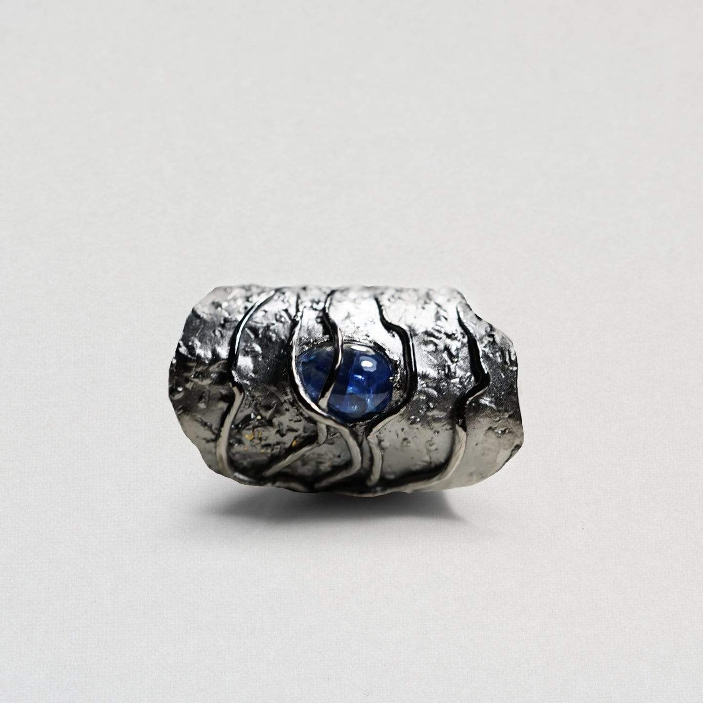 Mairon Ring, Exclusive, gray, Rhodium, Sapphire, spo-disabled, StoneColor:DeepBlue, Style:Everyday, Type:StoneCandyWired Ring