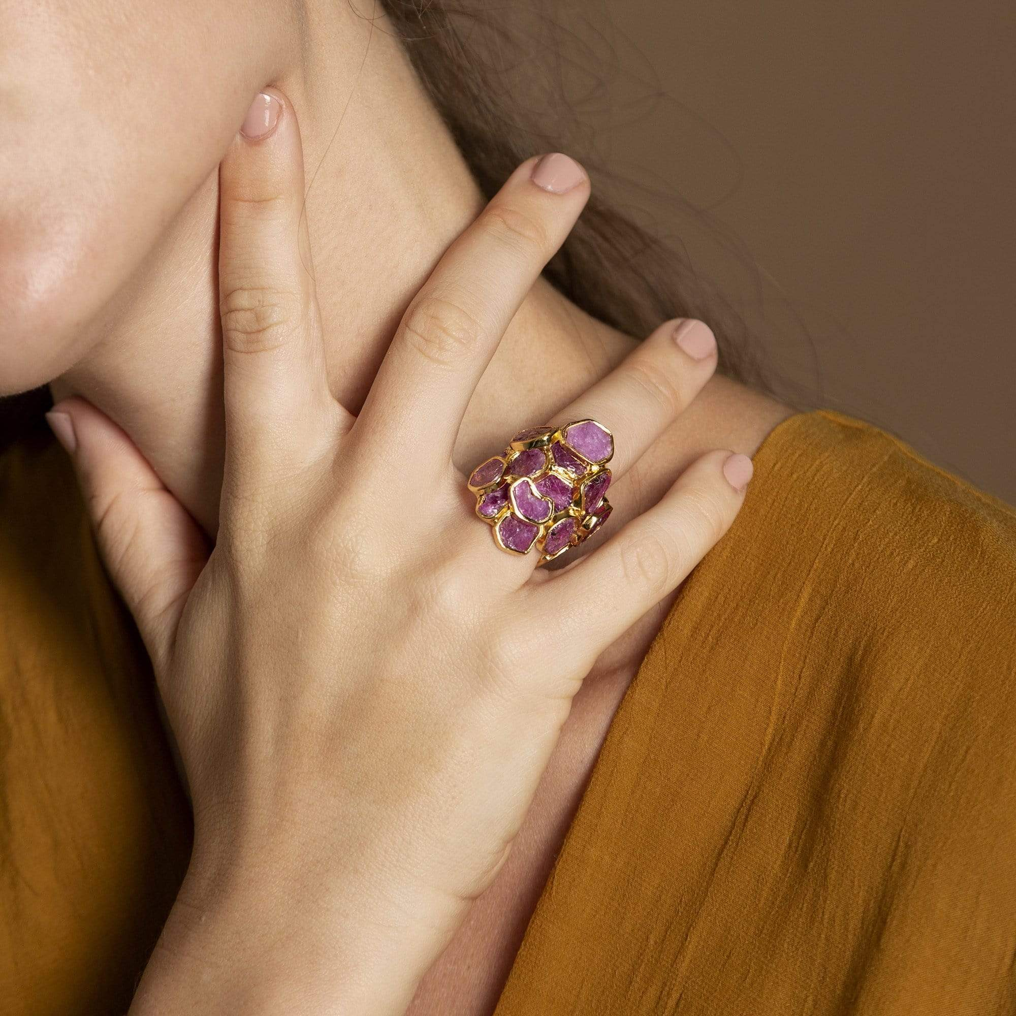 Mila Ring, Exclusive, Gold, Ruby, spo-disabled, StoneColor:PinkRuby, Style:Delicate, Type:StoneCandyDelicate Ring