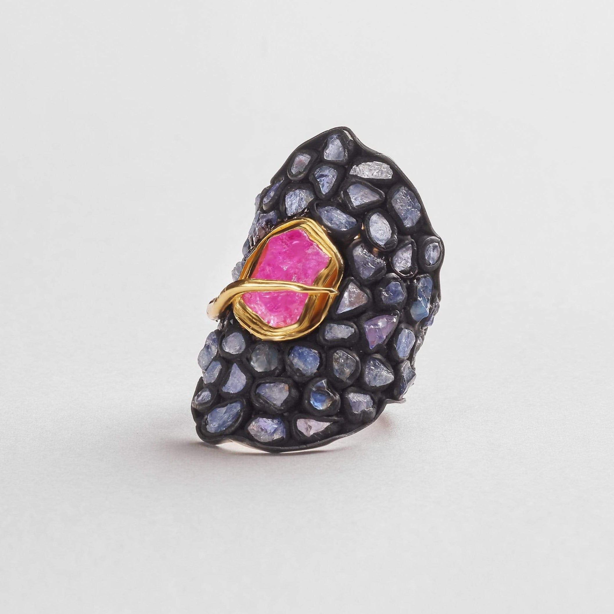 Jura Slice Ruby and Sapphire Ring