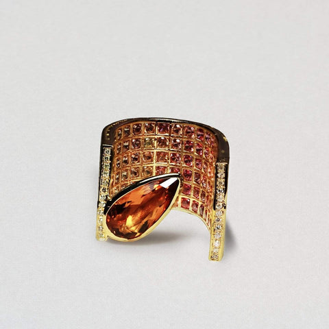 Persied Ring, Citrine, Exclusive, Gold, spo-disabled, StoneColor:Orange, Style:Fantasy Ring
