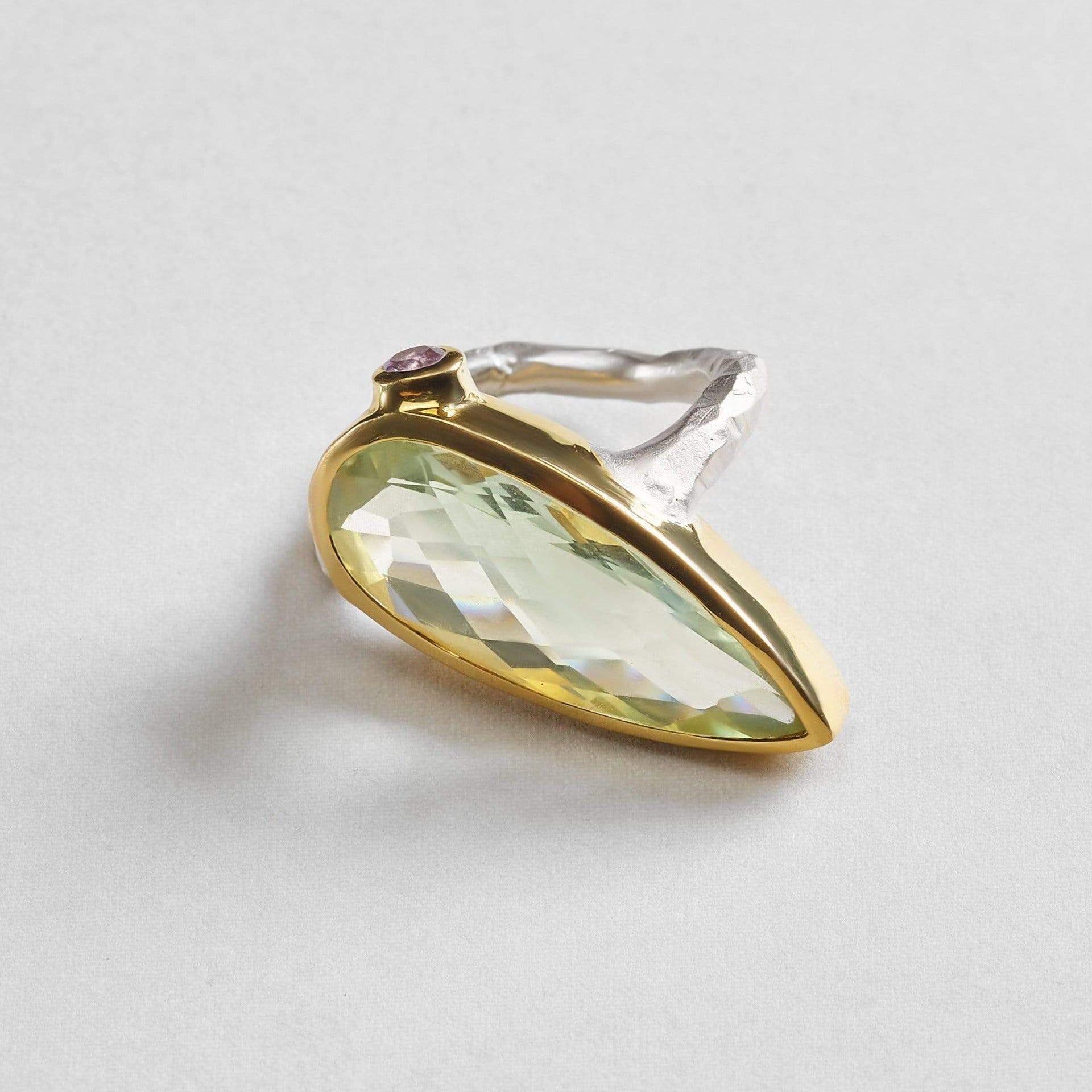 Tisa Green Amethyst Ring