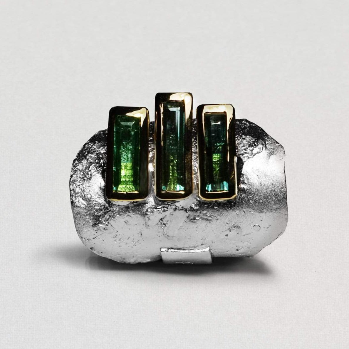 Meiden Ring, Exclusive, Gold, Rhodium, silver, spo-disabled, StoneColor:Green, Style:Everyday, Tourmaline Ring