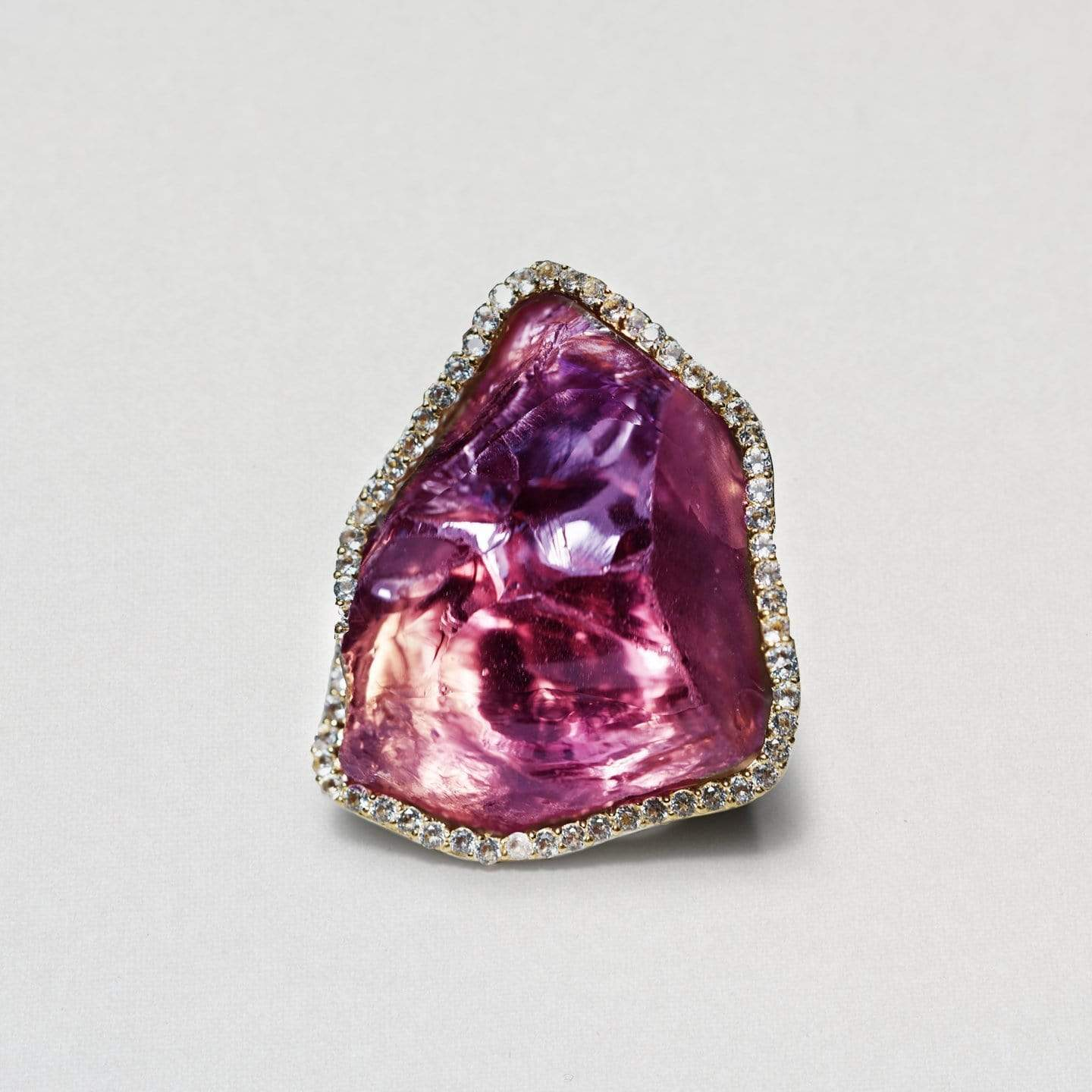 Raphael Ring, Amethyst, Exclusive, Gold, gray, Rhodium, spo-disabled, StoneColor:purple, Style:Statement, Topaz, Type:LargeSoloStone Ring