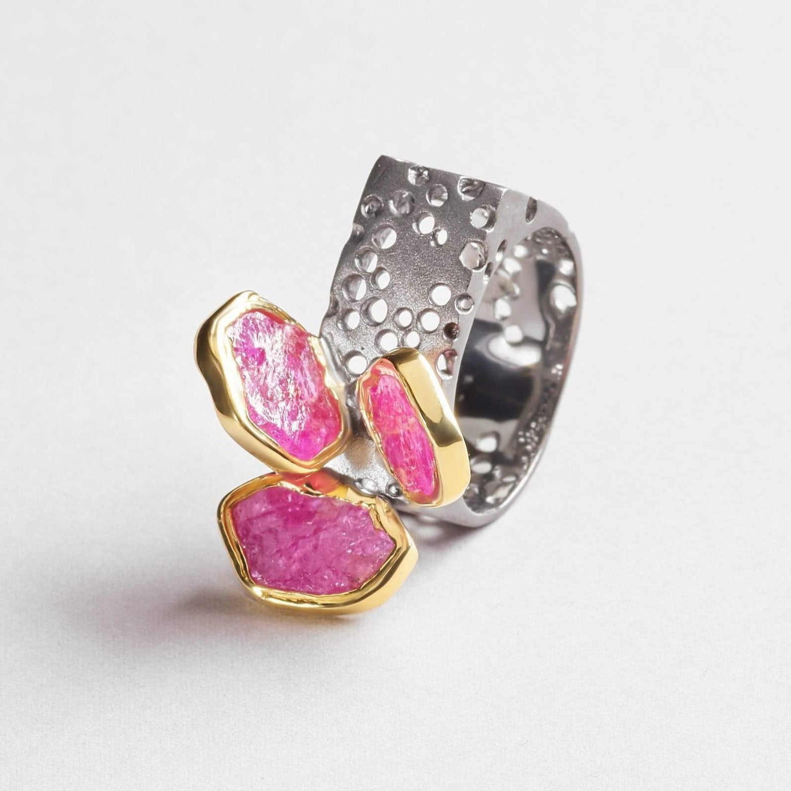 Metara Slice Ruby Ring