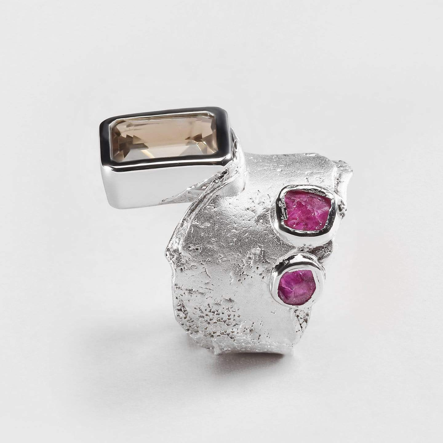 Alai Ruby and Quartz Ring