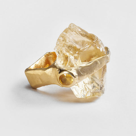 Ayleth Citrine and Sapphire Ring