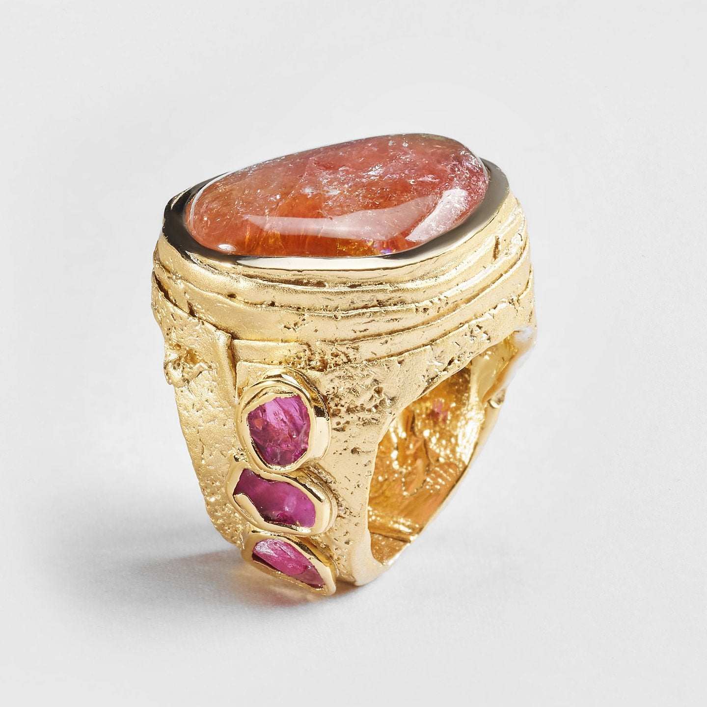 Tilla Tourmaline and Ruby Ring