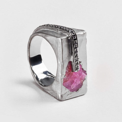 Kenja Ruby and Spinel Ring