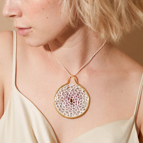 Eithen Pendant, Exclusive, Gold, Spinel, spo-disabled, StoneColor:PastelColor, Style:Statement, Type:StainedGlass Pendant
