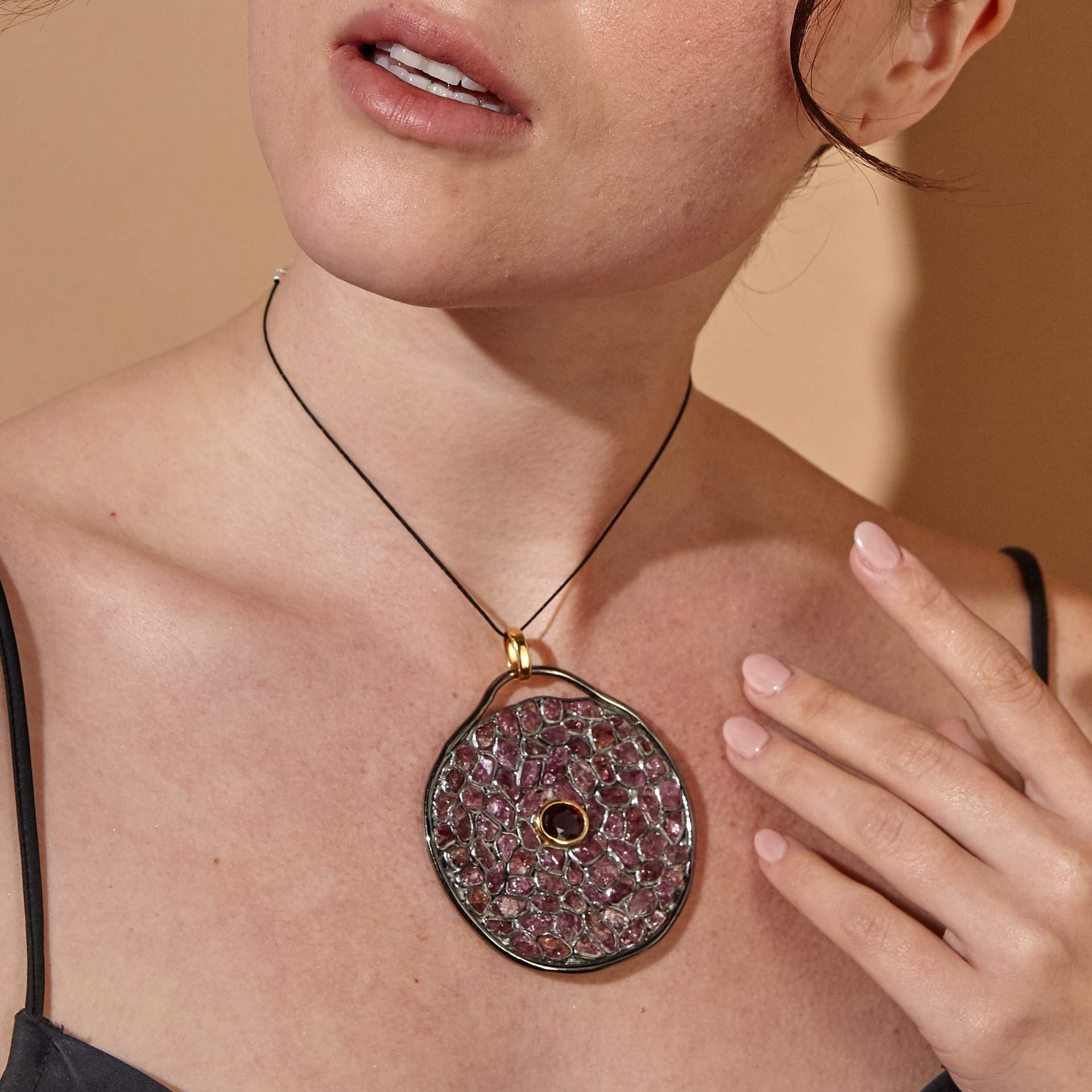 Jocasta Garnet and Ruby Pendant