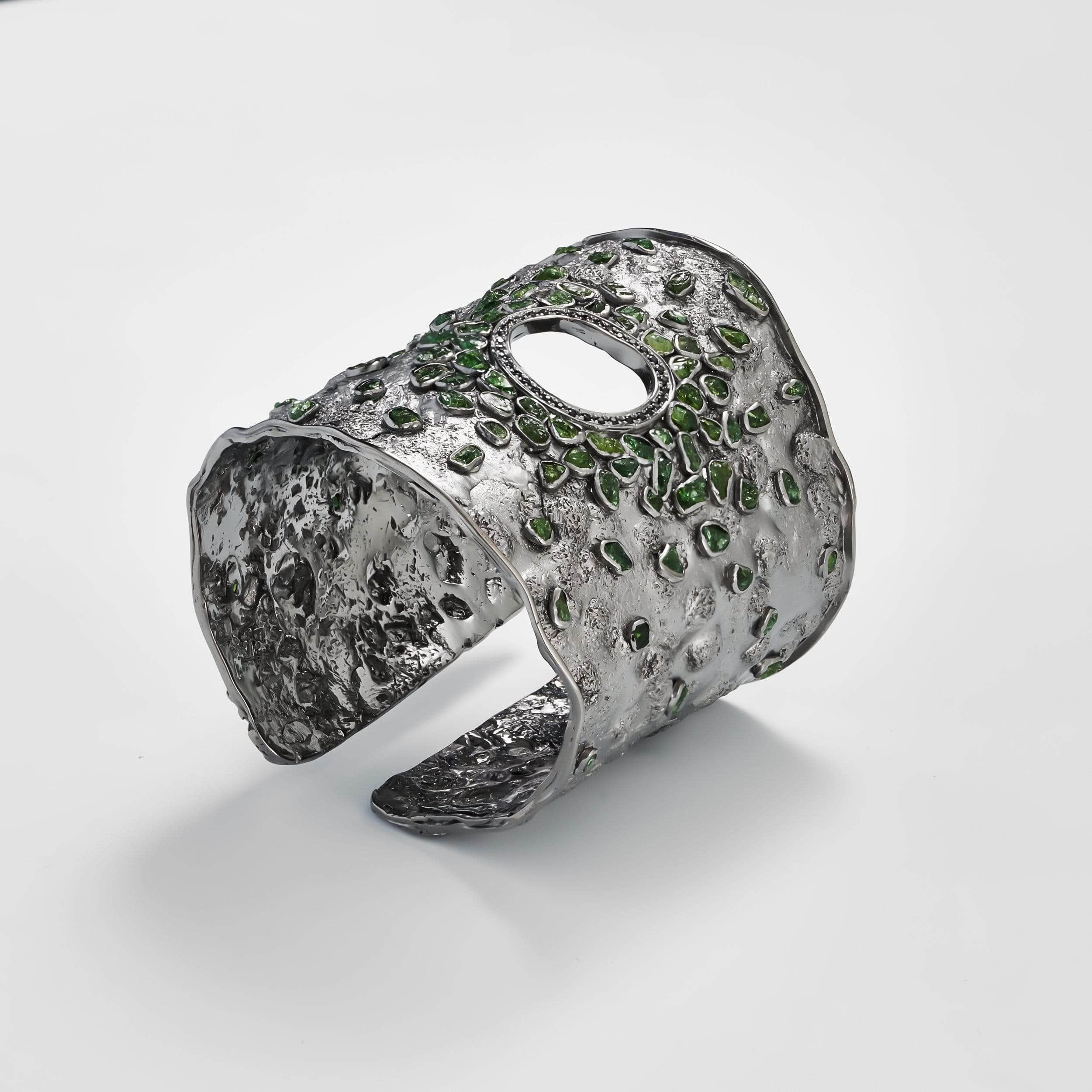 Chandra Chrome Diopside Bangle