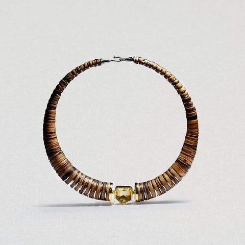 Serilda Necklace, Citrine, Exclusive, Gold, Rhodium, silver, spo-disabled, StoneColor:Orange, Style:Everyday Necklace