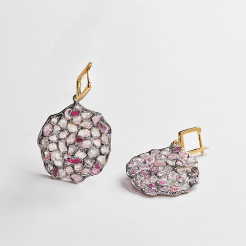 Nemain Ruby and Fancy Sapphire Earrings