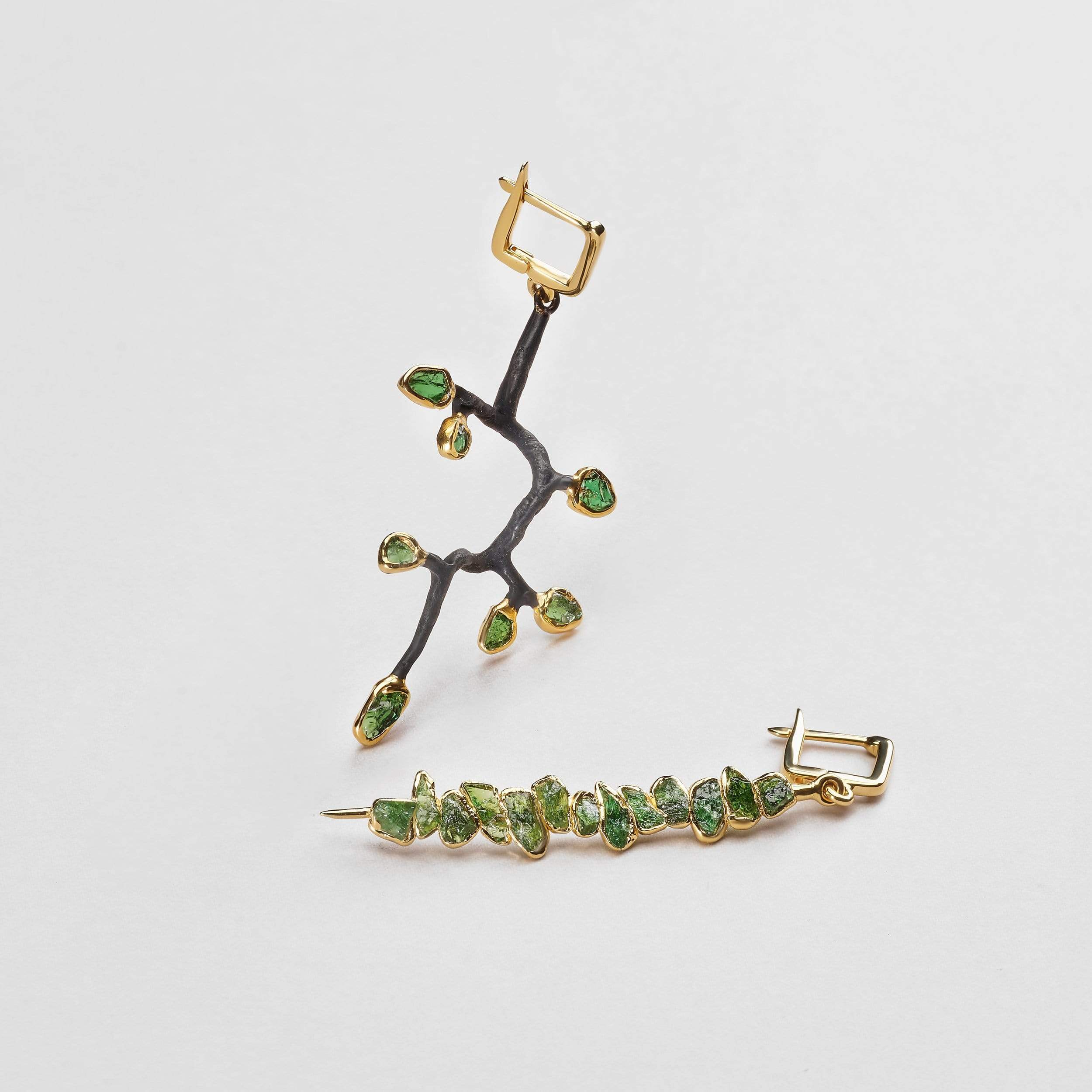 Emrys Chrome Diopside Earrings