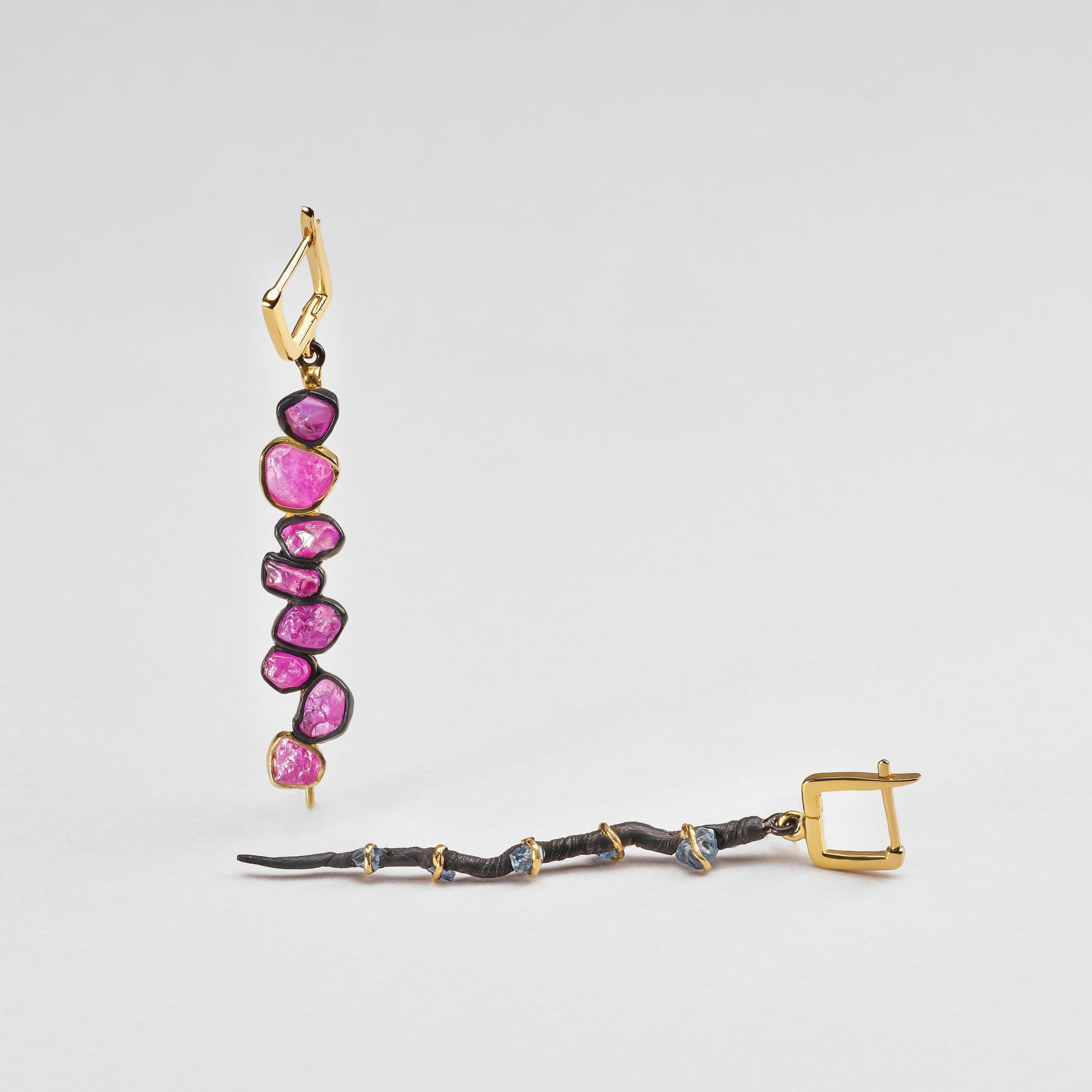 Andarta Ruby and Sapphire Earrings