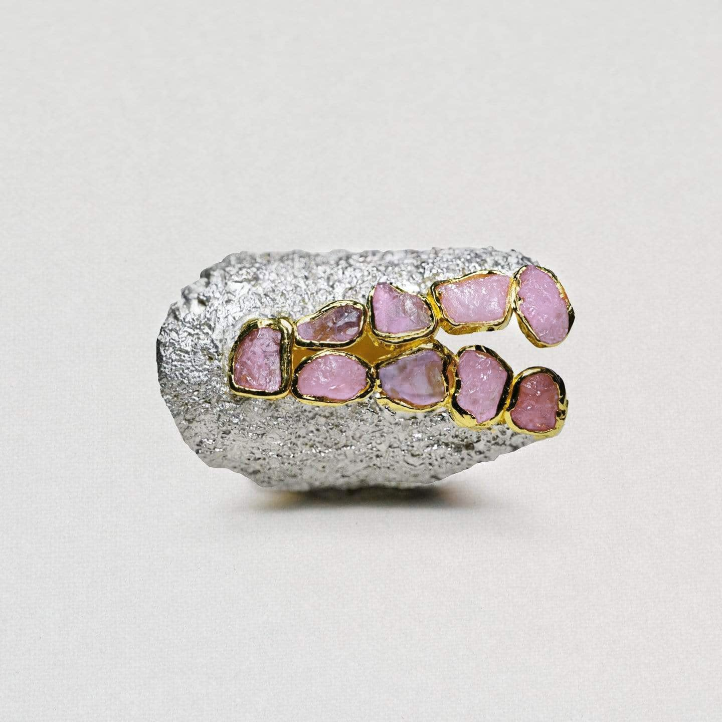 Siriena Ring, Gold, Handmade, Rhodium, Ruby, silver, spo-disabled, StoneColor:PinkRuby, Style:Everyday, Type:StoneCandyScattered Ring