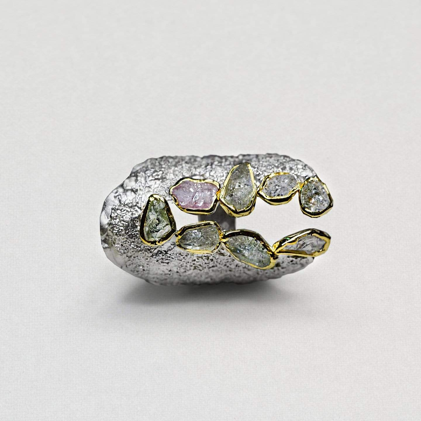 Conligia Ring, Gold, Handmade, Rhodium, Sapphire, silver, spo-disabled, StoneColor:PastelColor, Style:Everyday, Type:StoneCandyScattered Ring
