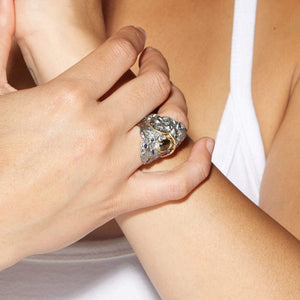 Eraint Ring, Gold, gray, Handmade, Rhodium, Sapphire, spo-disabled, StoneColor:DeepBlue, Style:Everyday, Type:StoneCandyWired Ring
