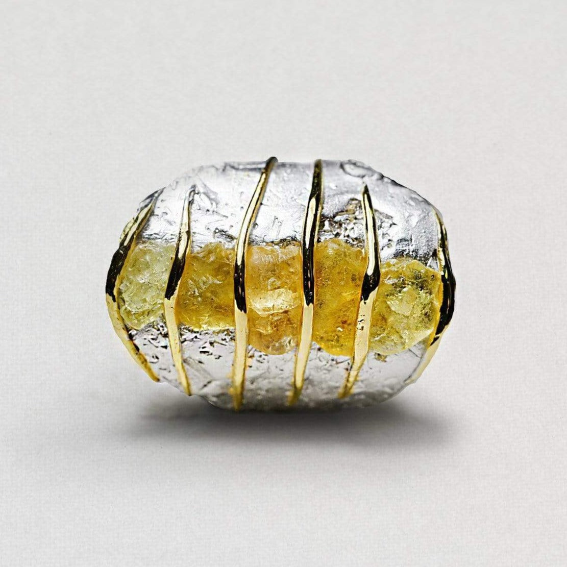 Claria Ring, Chrysoberyl, Gold, gray, Handmade, Rhodium, spo-disabled, StoneColor:Yellow, Style:Everyday, Type:StoneCandyWired Ring