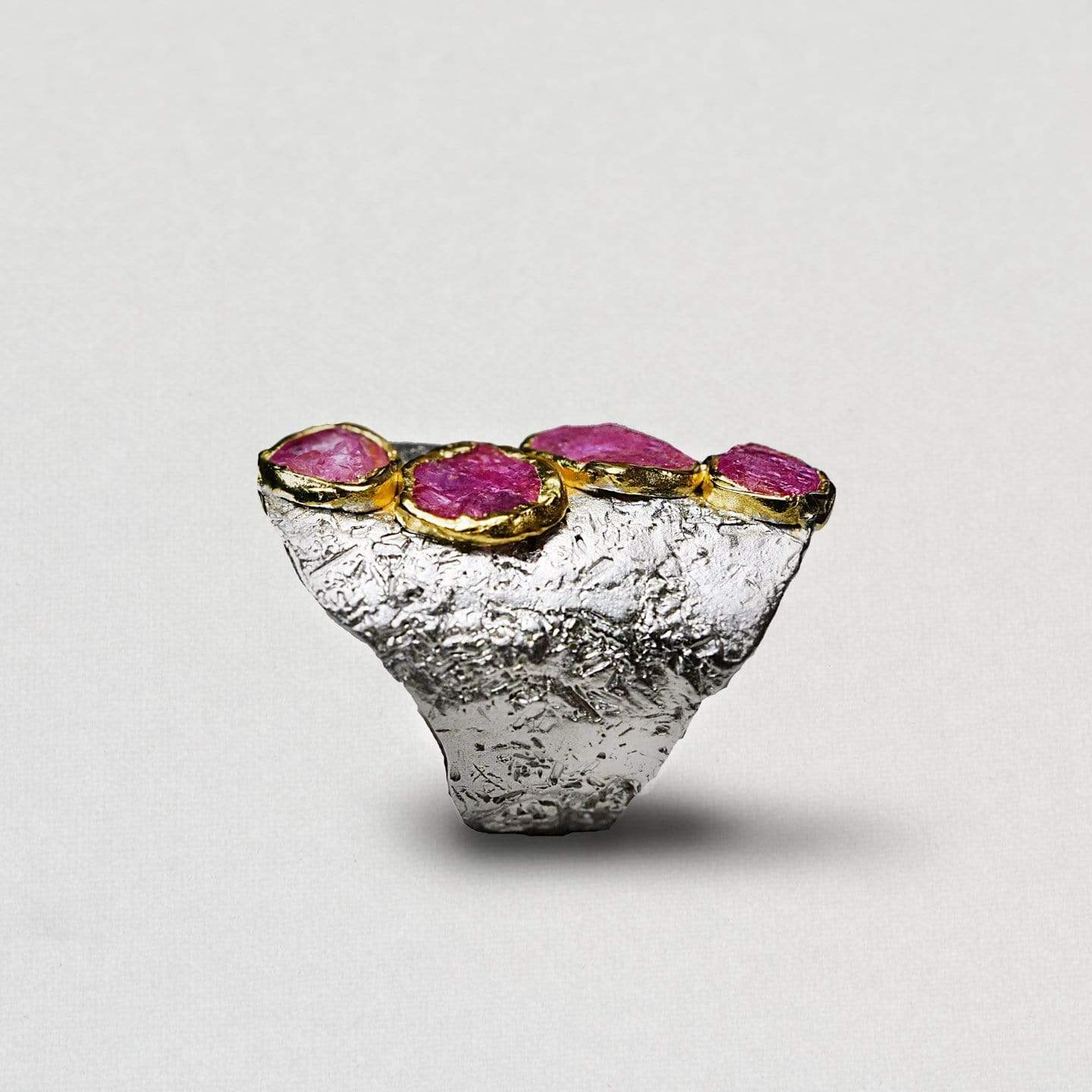 Impresia Ring, Gold, Handmade, Rhodium, Ruby, silver, spo-disabled, StoneColor:PinkRuby, Style:Everyday, Type:StoneCandyScattered Ring