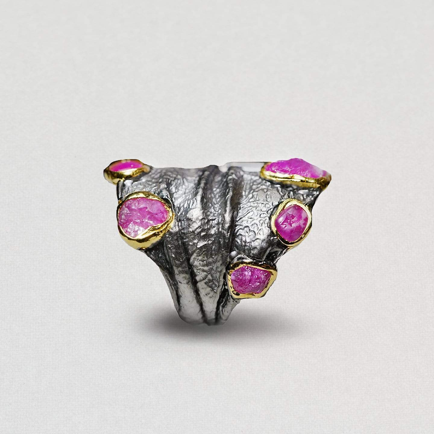 Almaith Ring, Gold, gray, Handmade, Rhodium, Ruby, spo-disabled, StoneColor:PinkRuby, Style:Everyday, Type:Jokers Ring