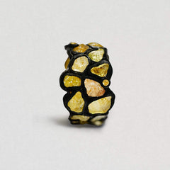 Adeola Chrysoberyl and Yellow Sapphire Ring