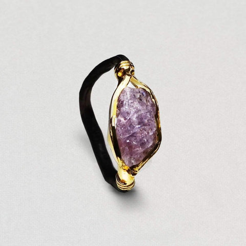 Edeva Ring, Anthracite, black, Gold, Handmade, Ruby, spo-disabled, StoneColor:PastelColor, StoneColor:PinkRuby, Style:Delicate, Type:BlackAnthracite, Type:StoneCandyDelicate Ring