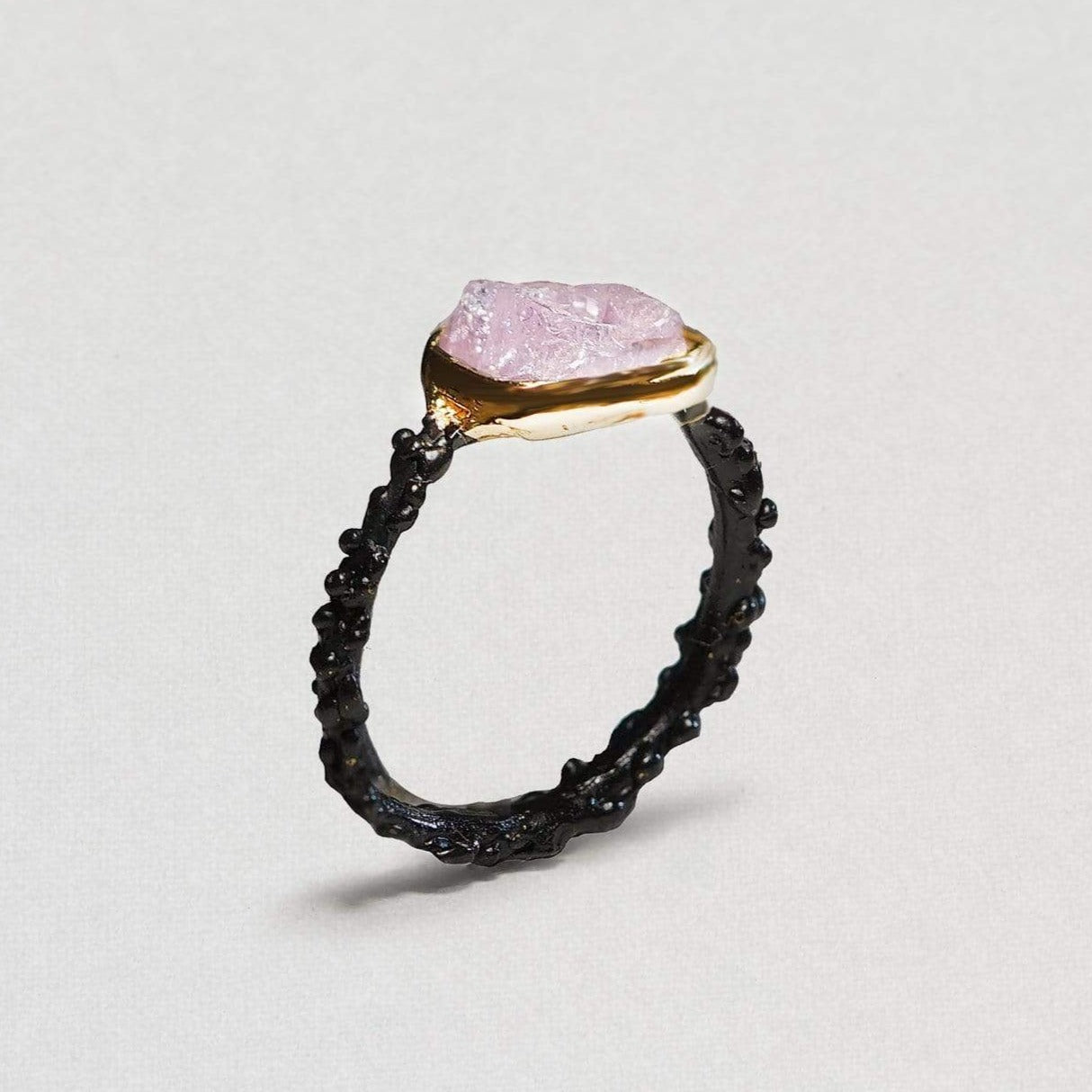 Nelida Ring, Anthracite, black, Gold, Handmade, Spinel, spo-disabled, StoneColor:PastelColor, Style:Delicate, Type:BlackAnthracite, Type:StoneCandyDelicate Ring