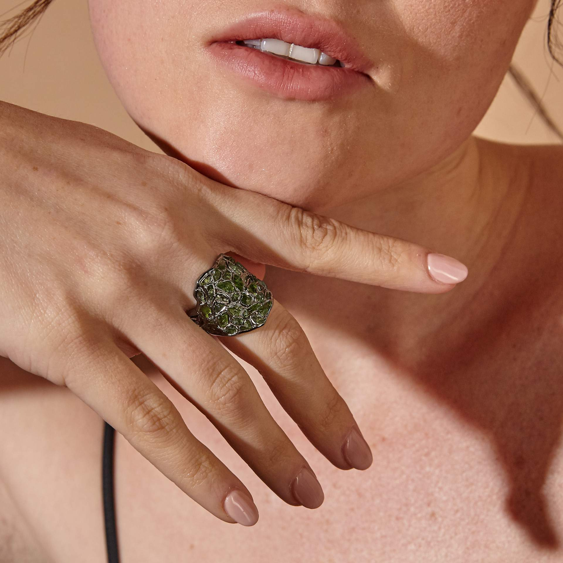 Nerissa Chrome Diopside Ring