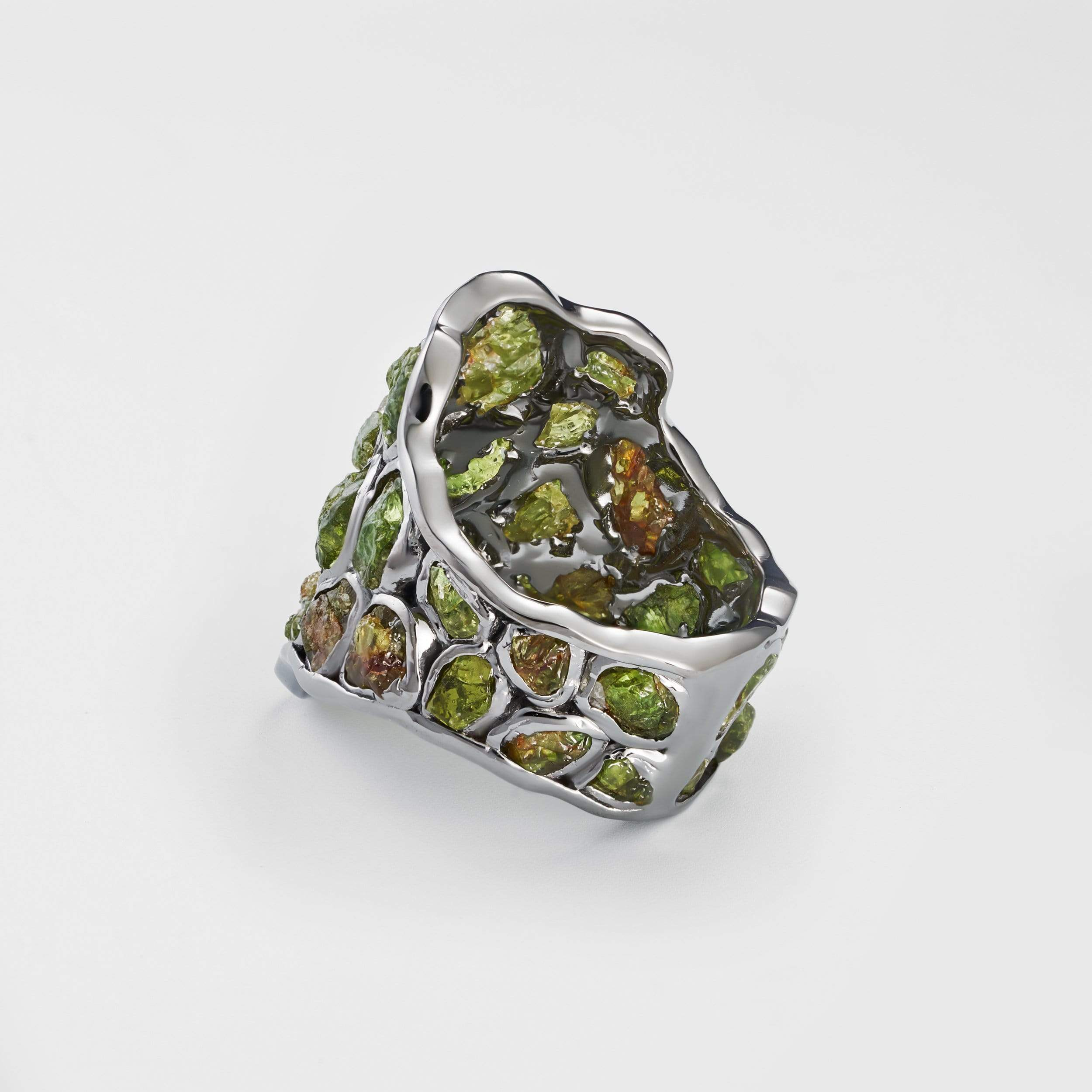 Nerissa Green Garnet Ring