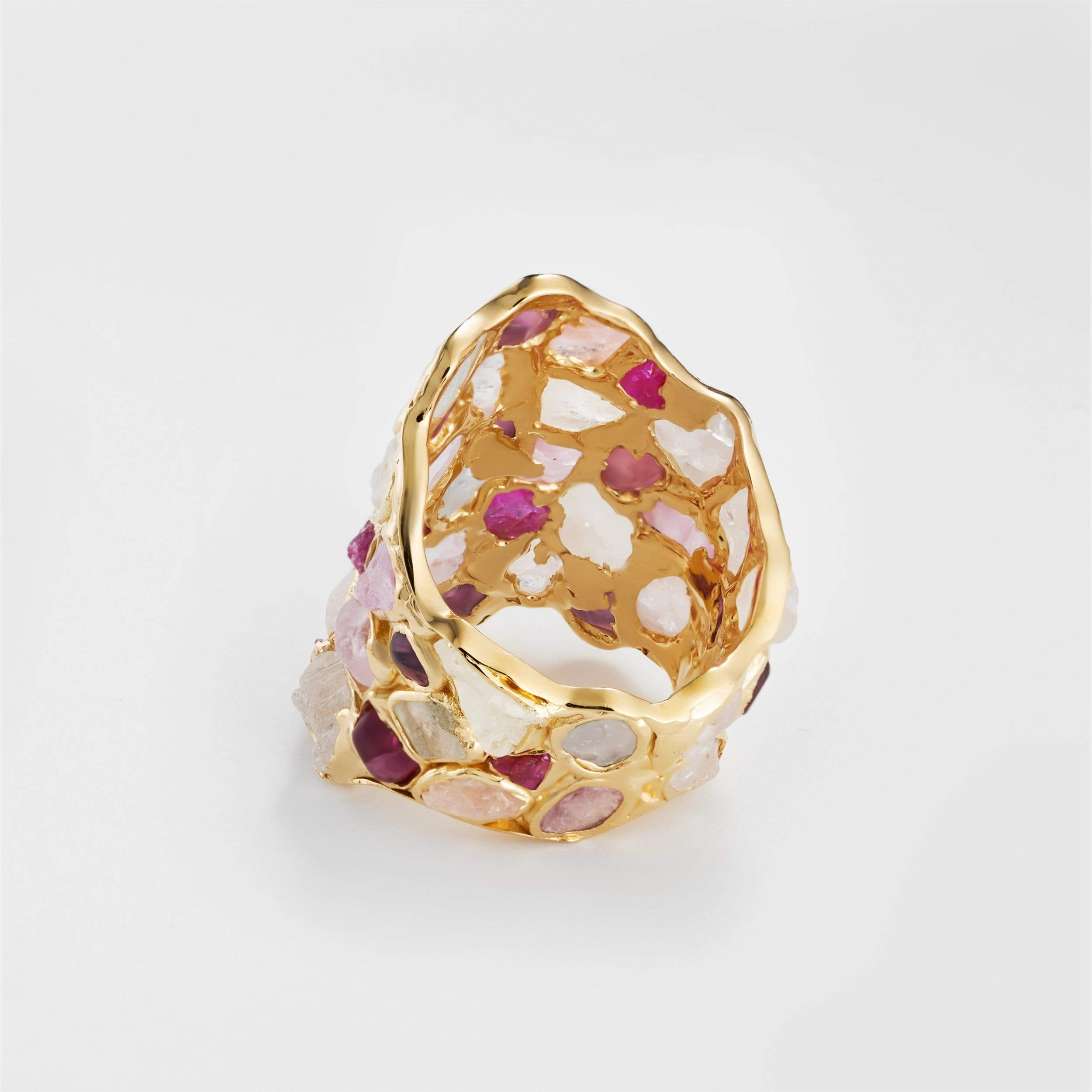 Nerissa Ruby and White Sapphire Ring