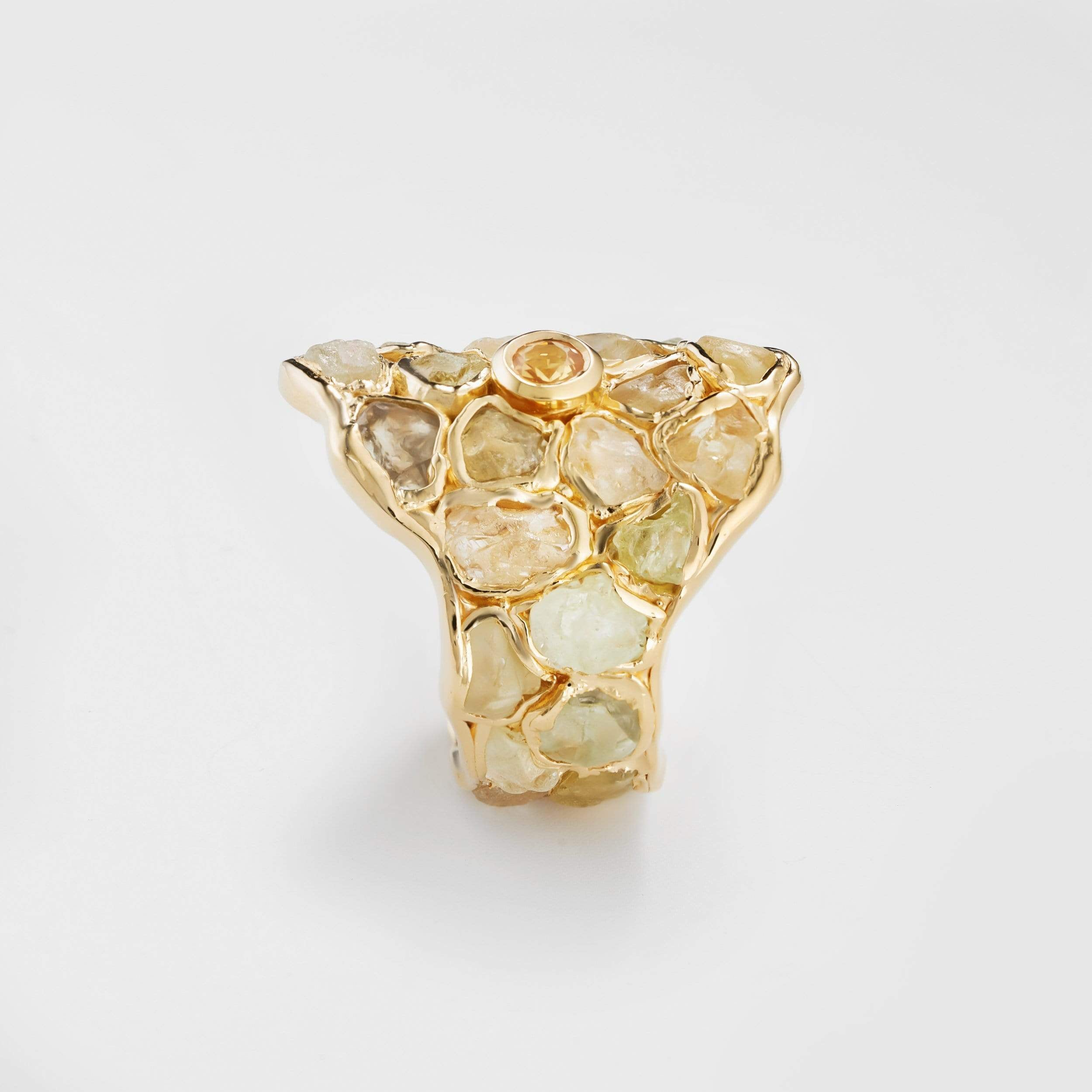Linara Yellow Sapphire and Chrysoberyl Ring