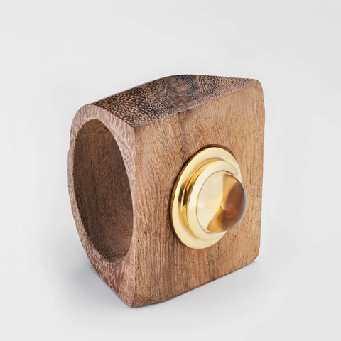 Mithrana Citrine Wood Ring