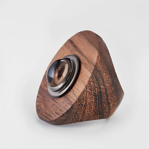Mayana Smokey Quartz Wood Ring