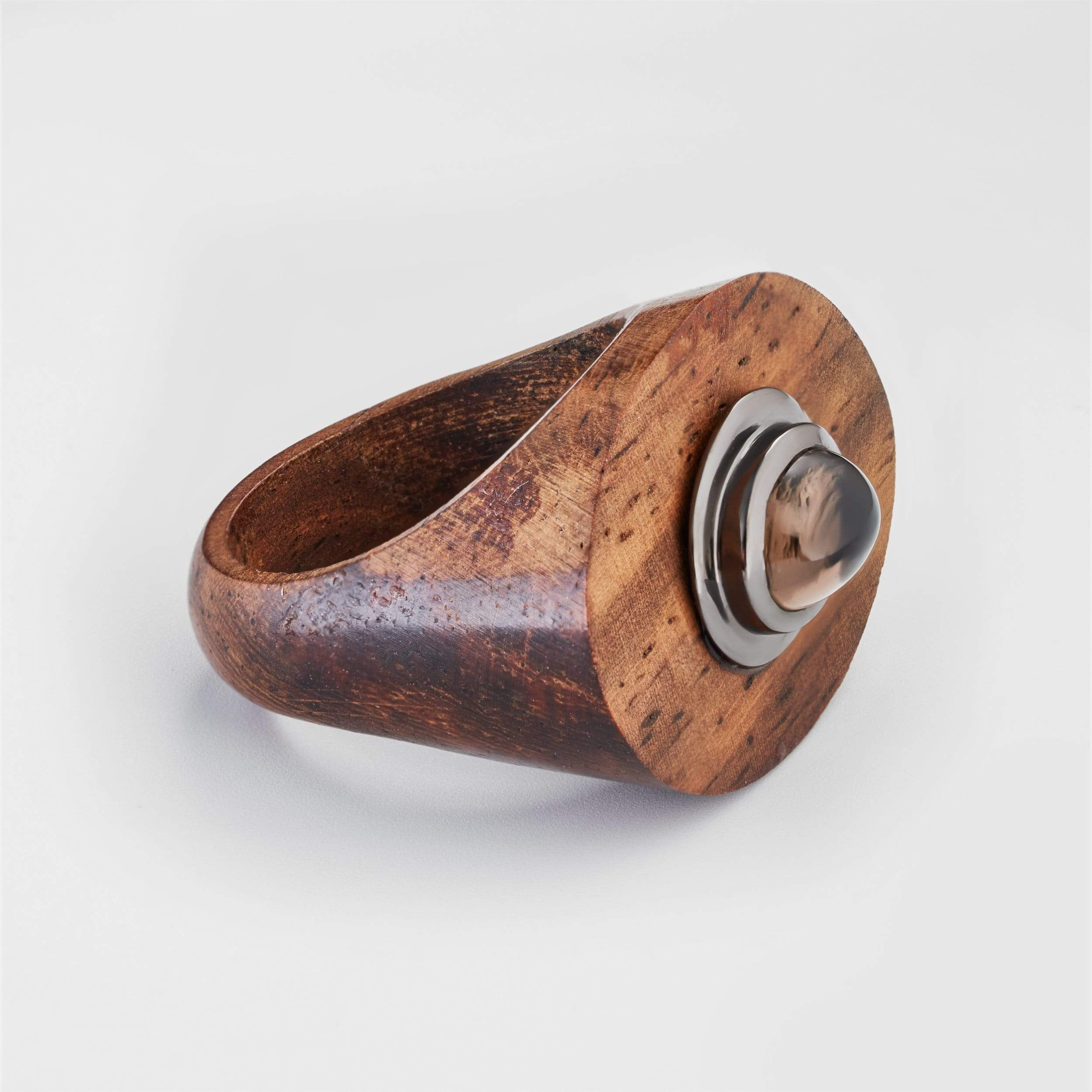 Tenara Smokey Quartz Wood Ring