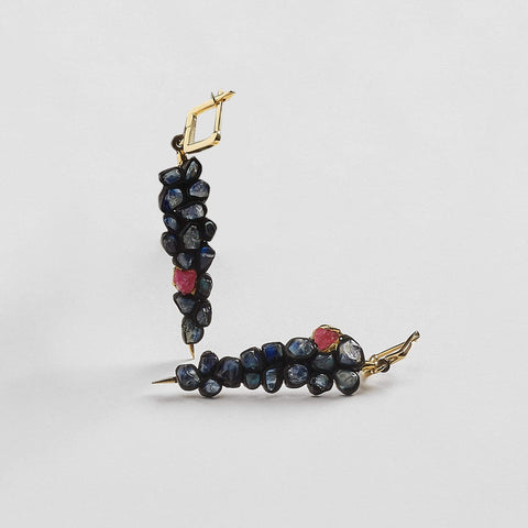 Siwan Sapphire and Ruby Earrings