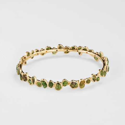Aten Green Garnet Bangle