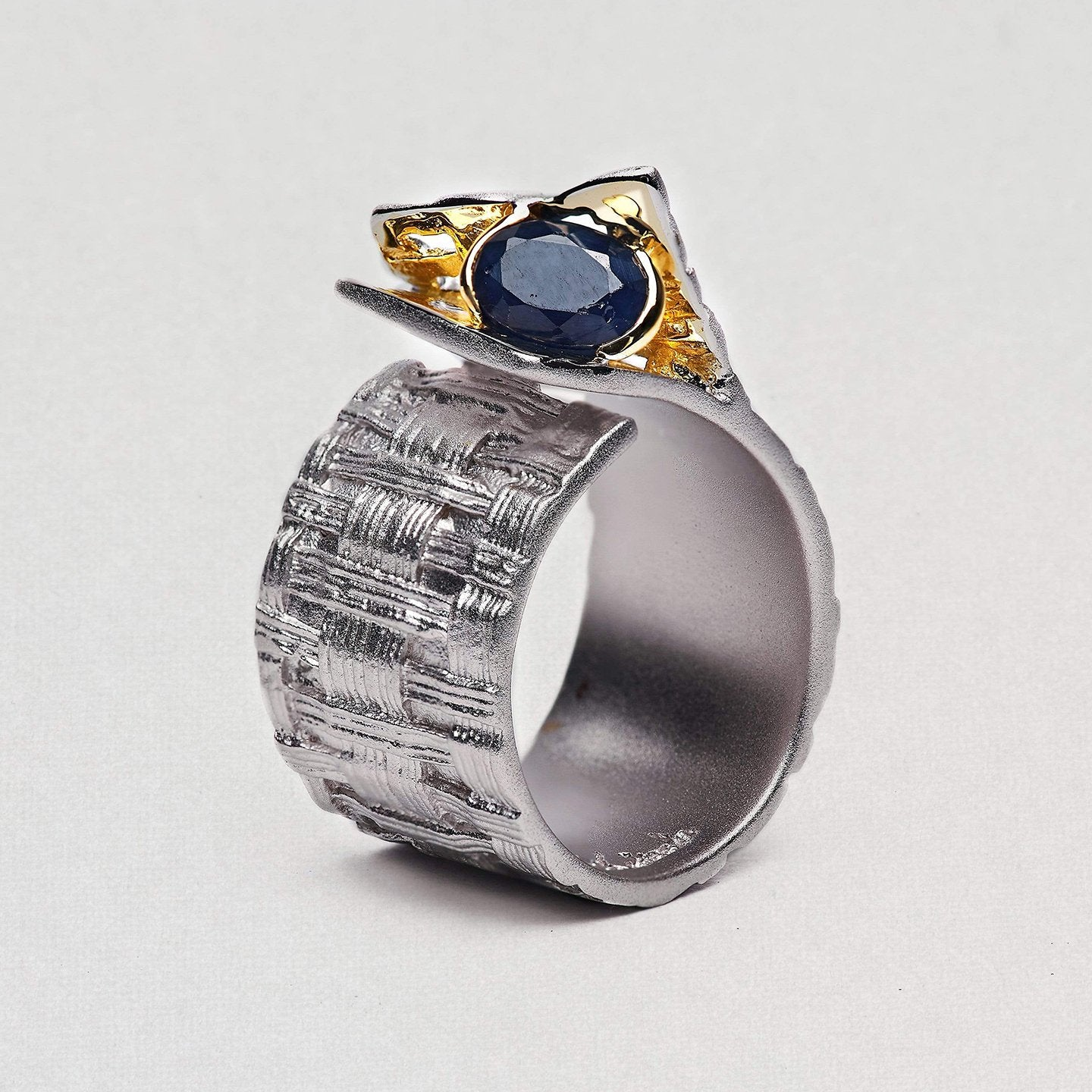 Accalia Ring, Gold, Rhodium, Sapphire, Serial, silver, spo-disabled, StoneColor:DeepBlue Ring