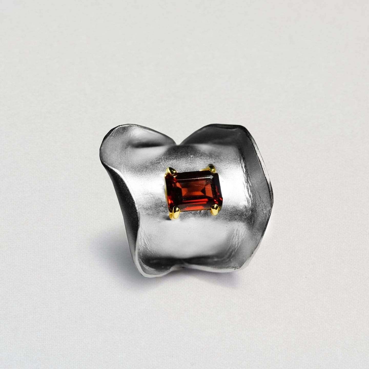 Sabiana Ring, Garnet, Gold, Rhodium, Serial, silver, spo-disabled, StoneColor:Red Ring