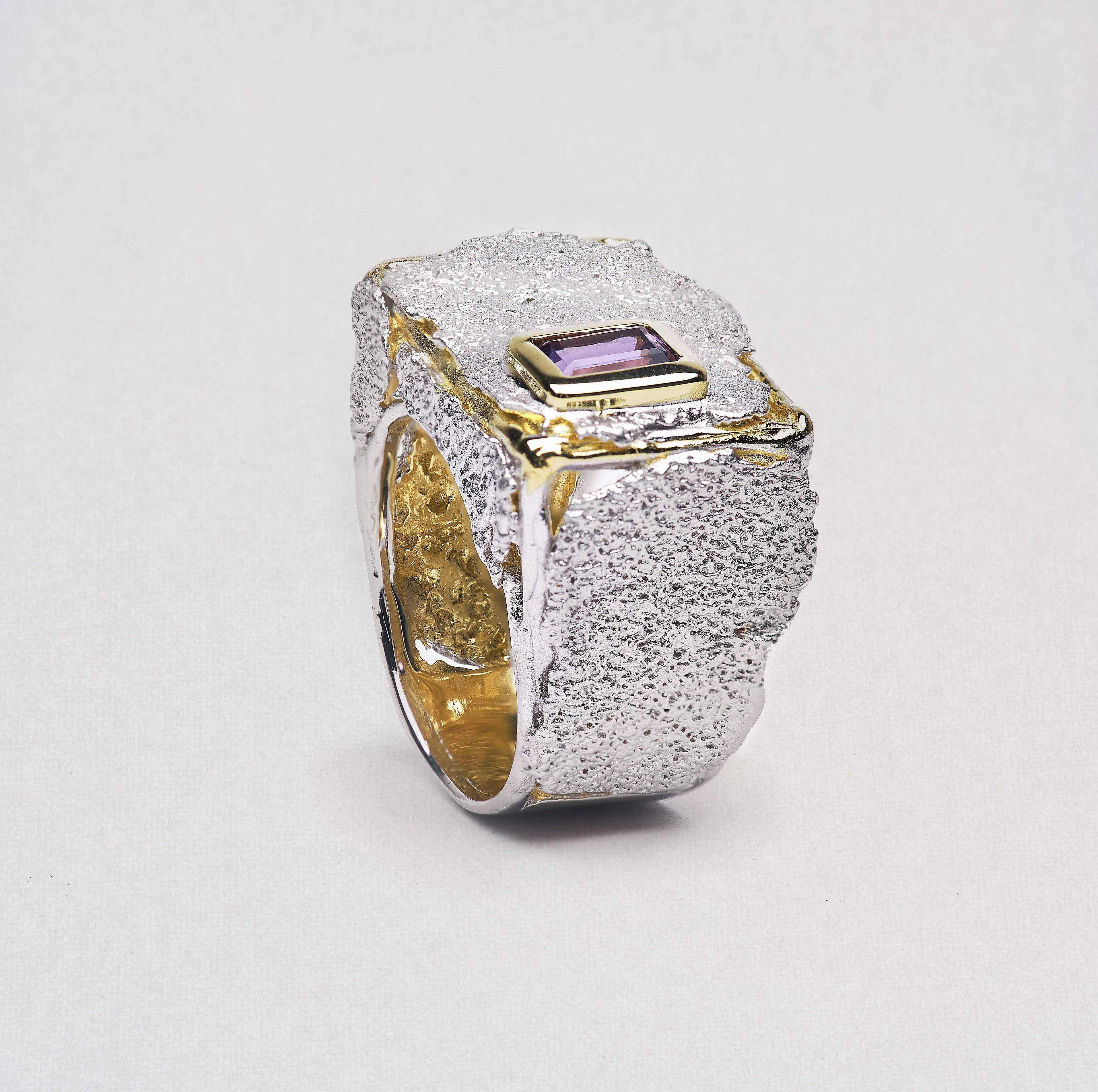 Raina Ring, Amethyst, Gold, Rhodium, Serial, silver, spo-disabled, StoneColor:purple Ring