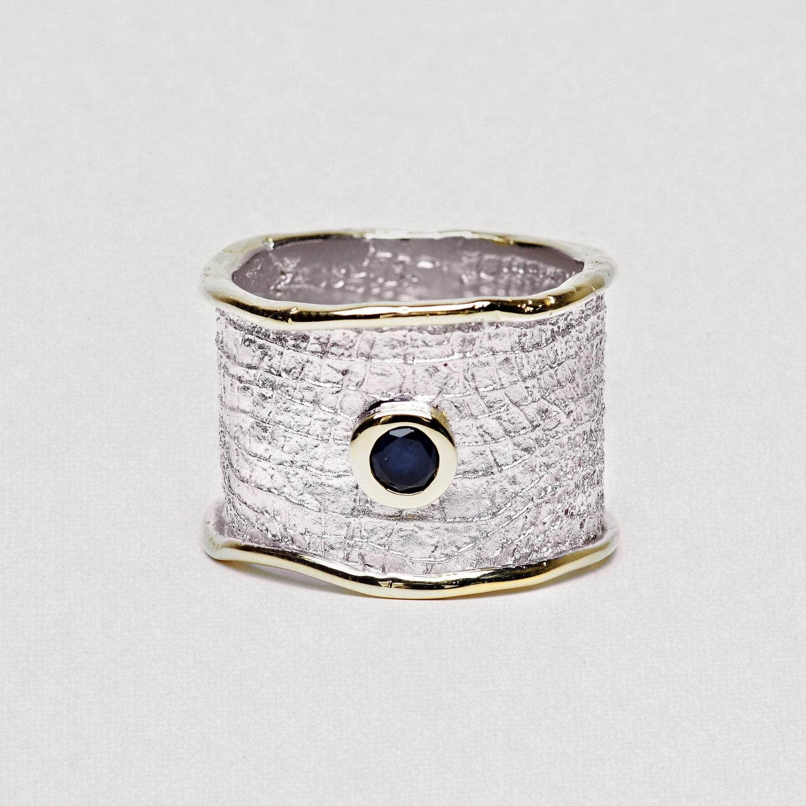 Nedrila Ring, Gold, Rhodium, Sapphire, Serial, silver, spo-disabled, StoneColor:DeepBlue Ring