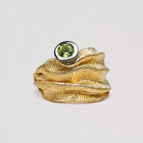 Edenia Ring, Gold, gray, Peridot, Rhodium, Serial, spo-disabled, StoneColor:Green Ring